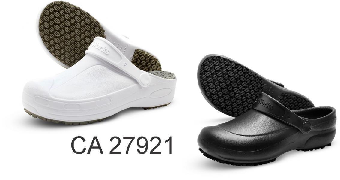 1aa713e440e7f Sapato antiderrapante tipo Babuche Soft Works - Branco Preto ...